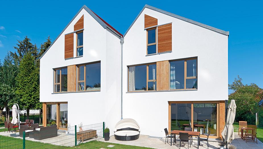 Das Gruber Naturholzhaus in Doppelhausvariante
