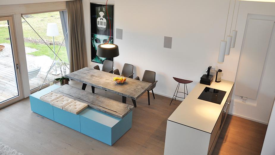 Der Wohnraum im smart-loft ist offen und frei.