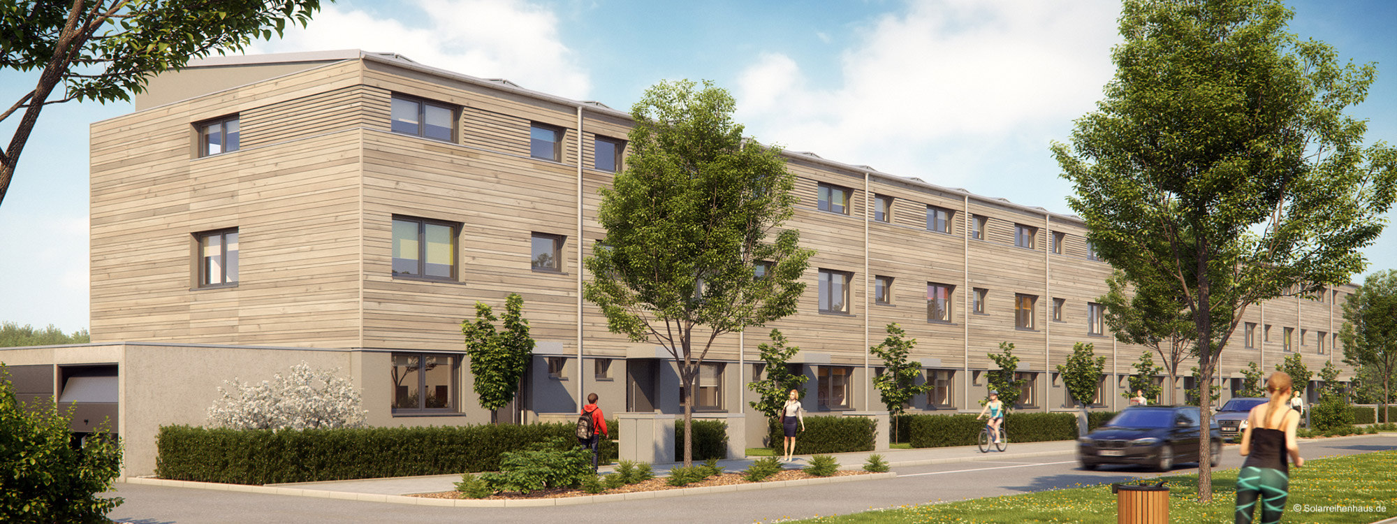 Solarreihenhaus - modern und wohngesund in Holzbauweise. Im Neubaugebiet Regensburg Burgweinting